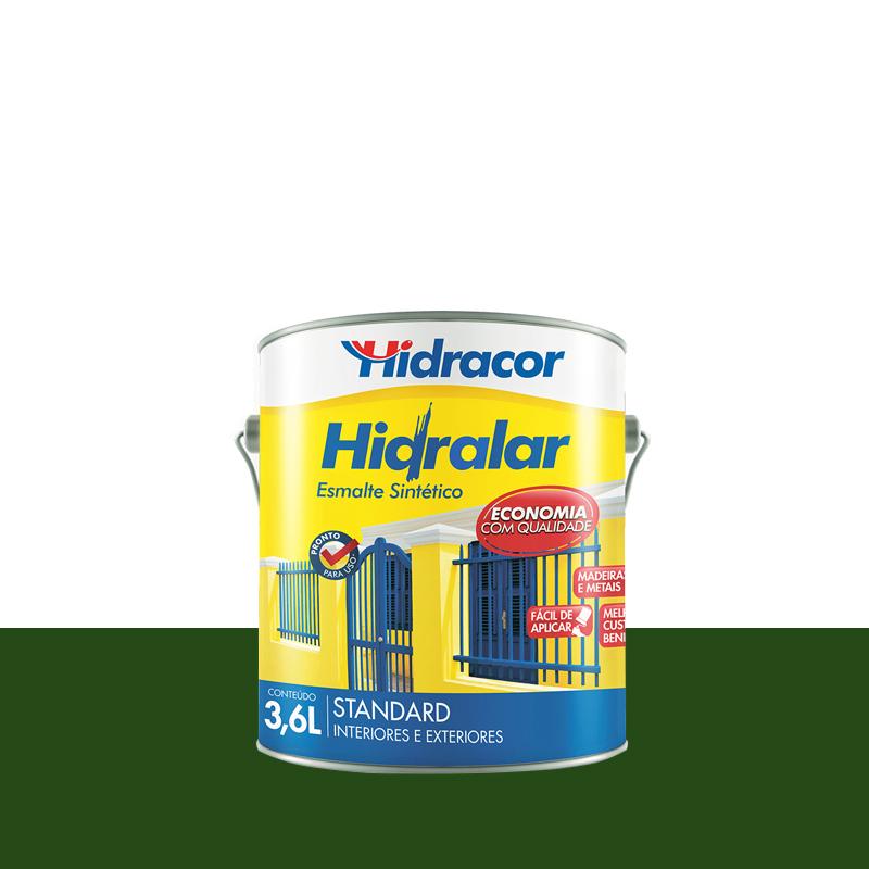 Tinta Esmalte Hidralar 3,6L Verde Folha Hidracor