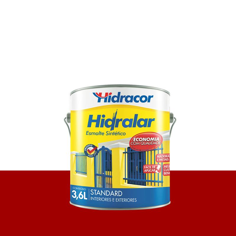 Tinta Esmalte Hidralar 3,6L Vermelho Hidracor