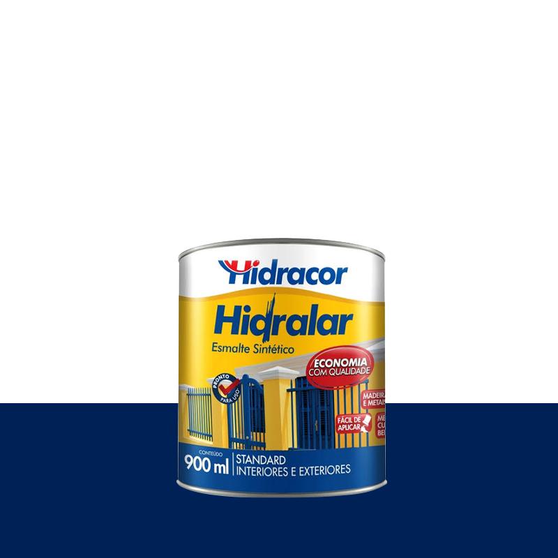 Tinta Esmalte Hidralar 900mL Azul Del Rey Hidracor