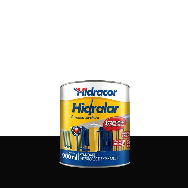 Tinta Esmalte Hidralar 900mL Preto Hidracor