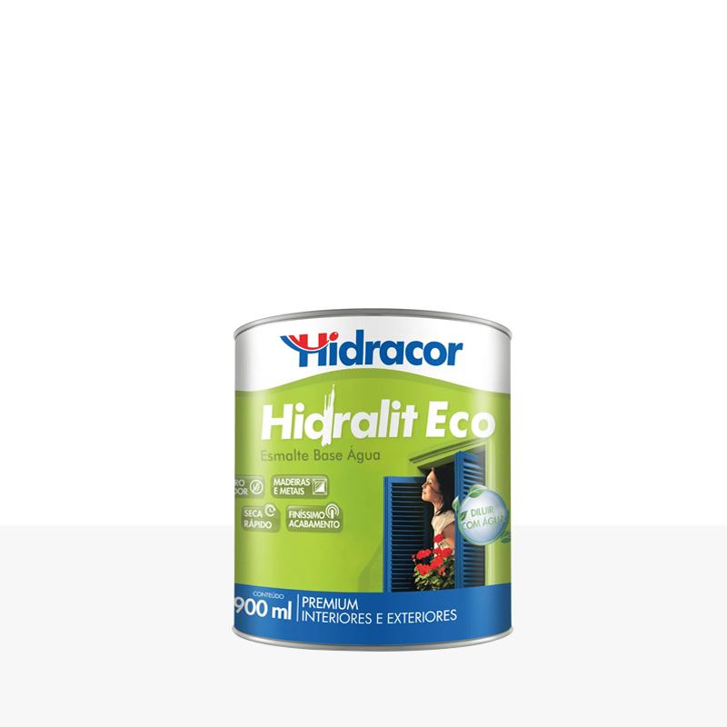 Tinta Esmalte Hidralit Eco 900mL Branco Hidracor