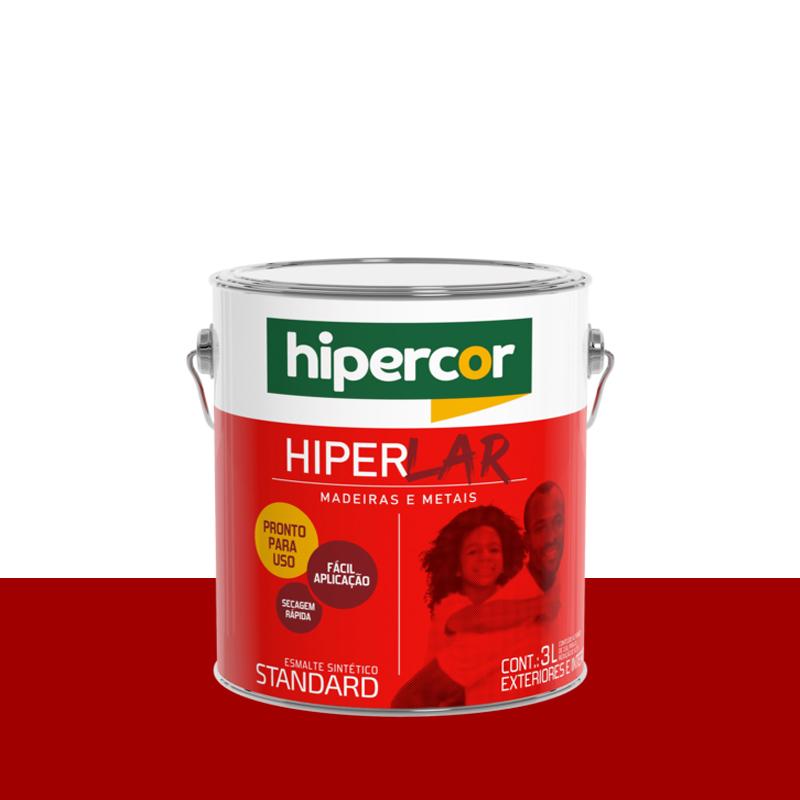 Tinta Esmalte Hiperlar 3,6 Vermelho Hipercor