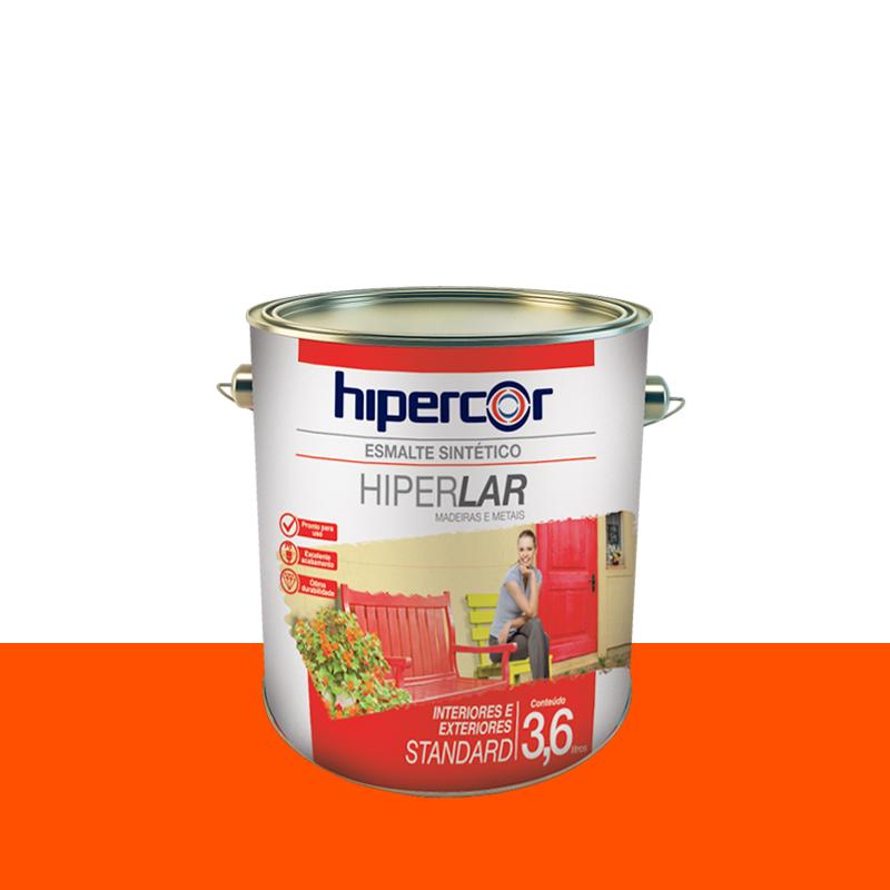 Tinta Esmalte Hiperlar 3,6L Laranja Hipercor