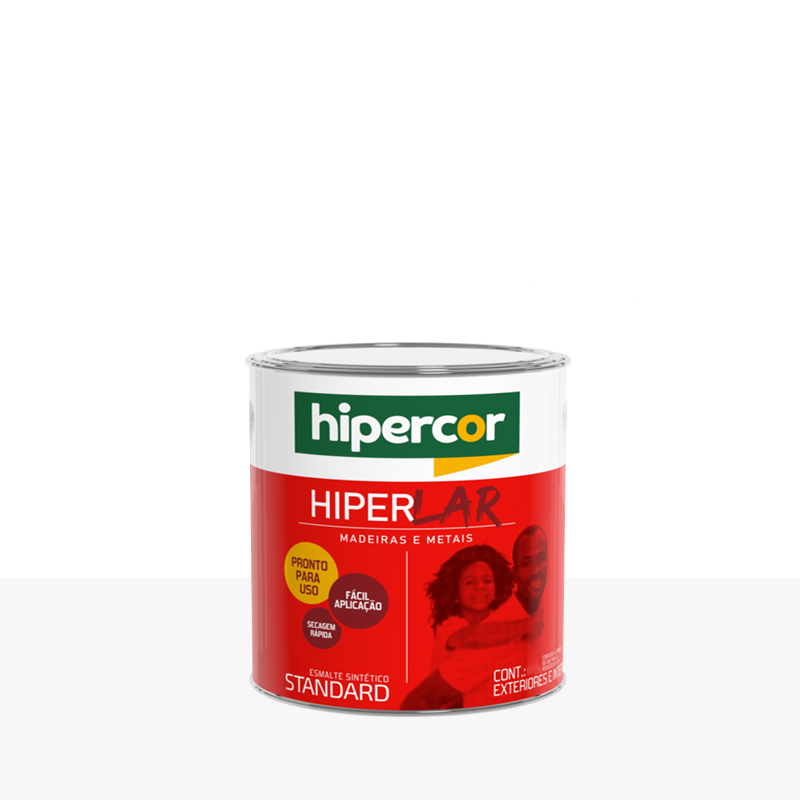 Tinta Esmalte Hiperlar 900mL Branco Neve Hipercor