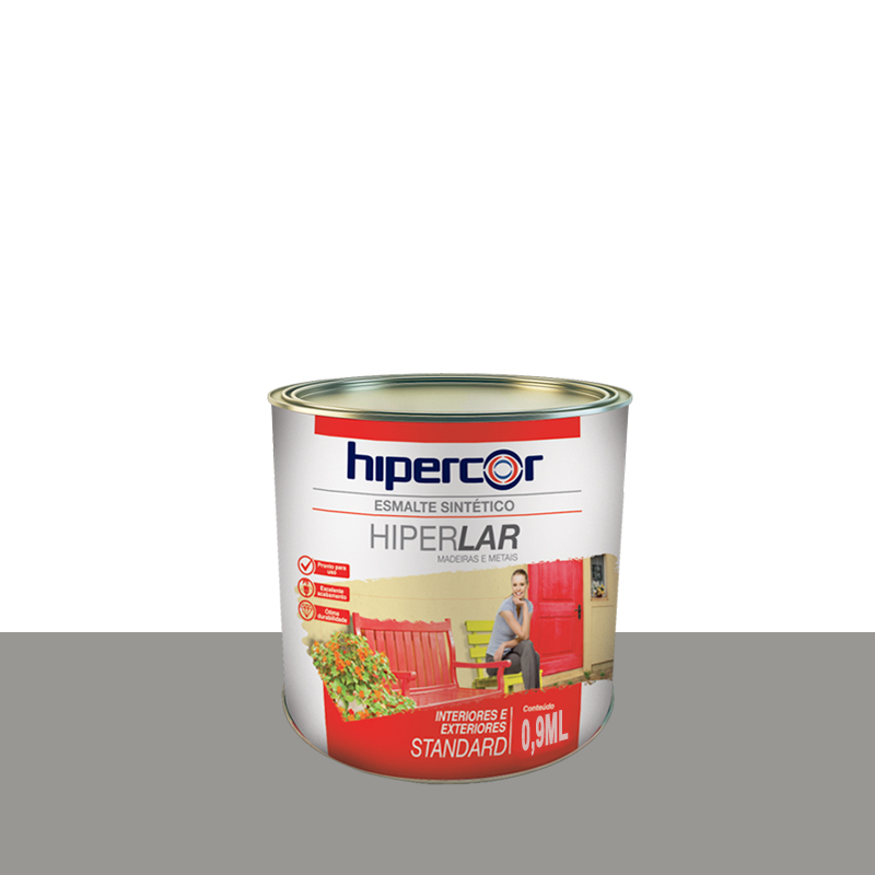 Tinta Esmalte Hiperlar 900mL Cinza Hipercor