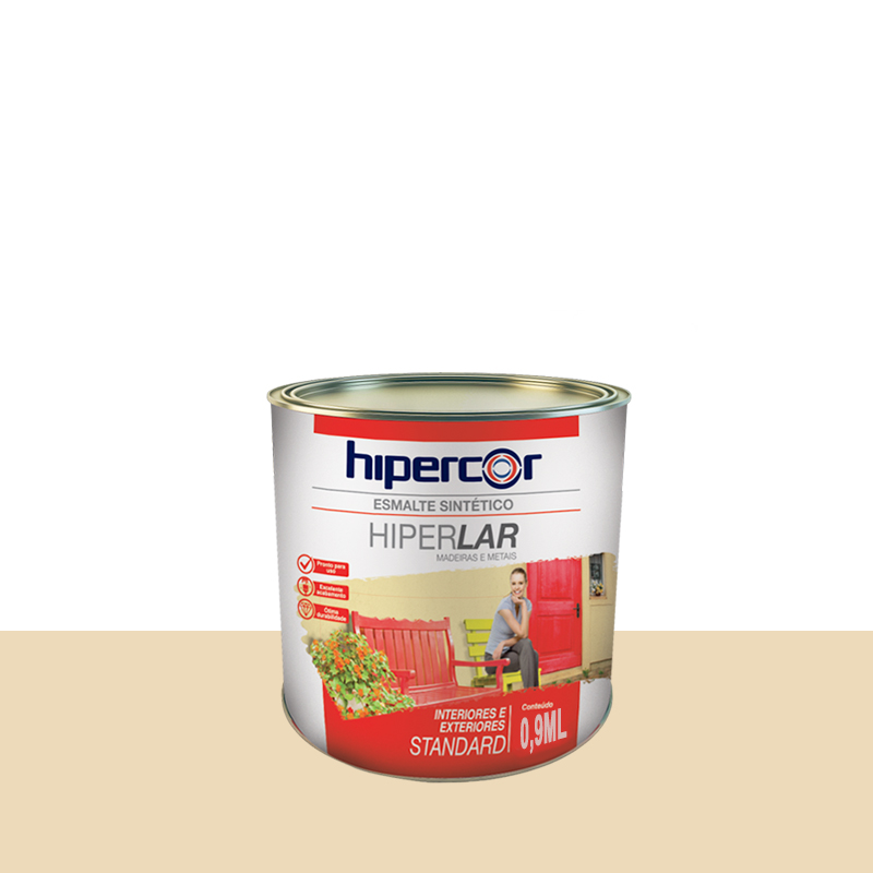 Tinta Esmalte Hiperlar 900mL Marfim Hipercor