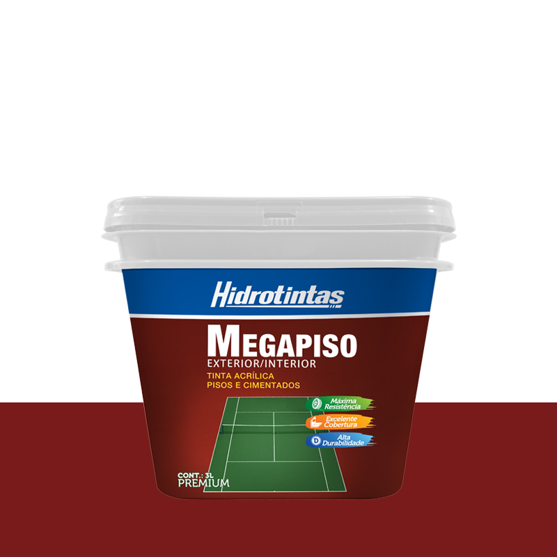 Tinta Megapiso 3L Cerâmica Hidrotintas