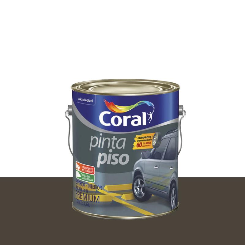 Tinta Piso 3,6L Cinza Escuro Coral