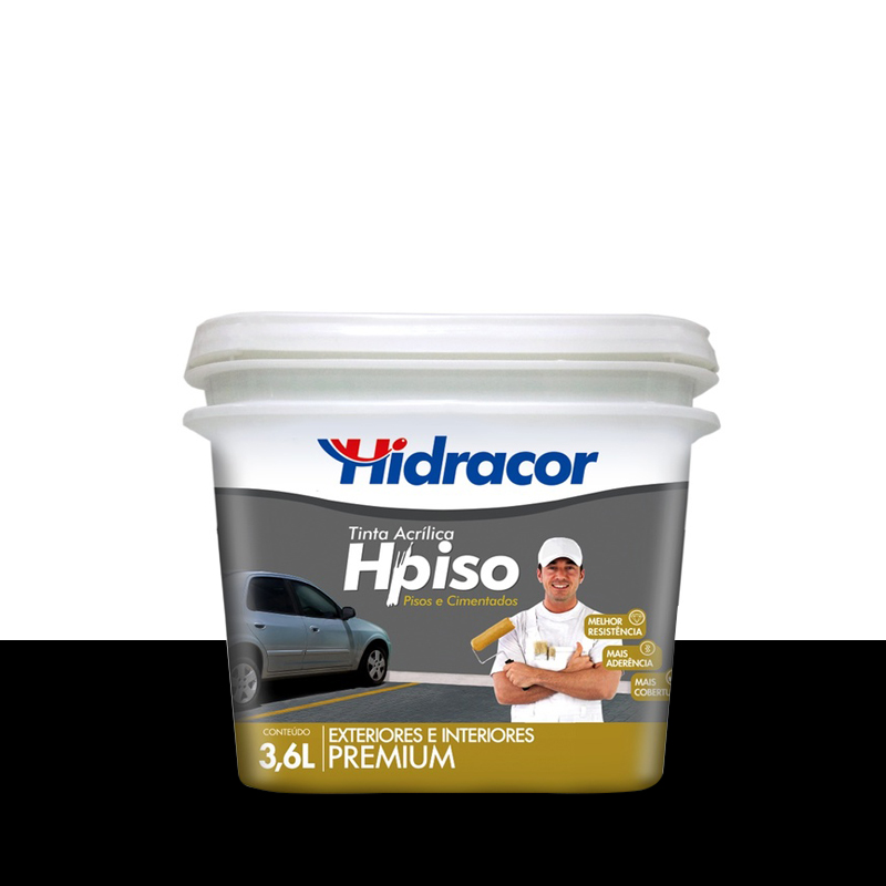 Tinta Piso 3,6L Preto Hidracor