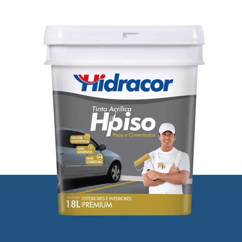 TINTA PISO HIDRACOR 15L AZUL