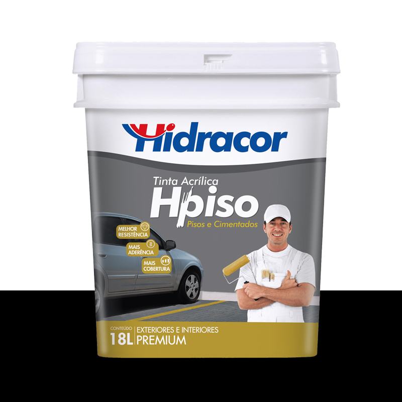 Tinta Piso Preto 18L Hidracor