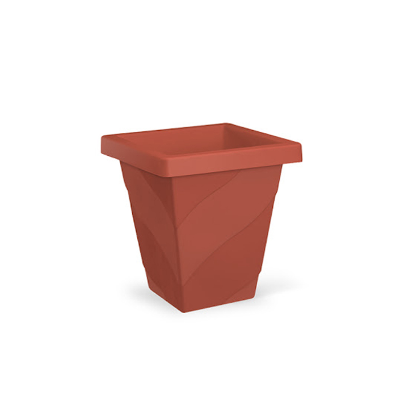 Vaso Quadrado Elegance 16,5L Terracota 6870 Inplast