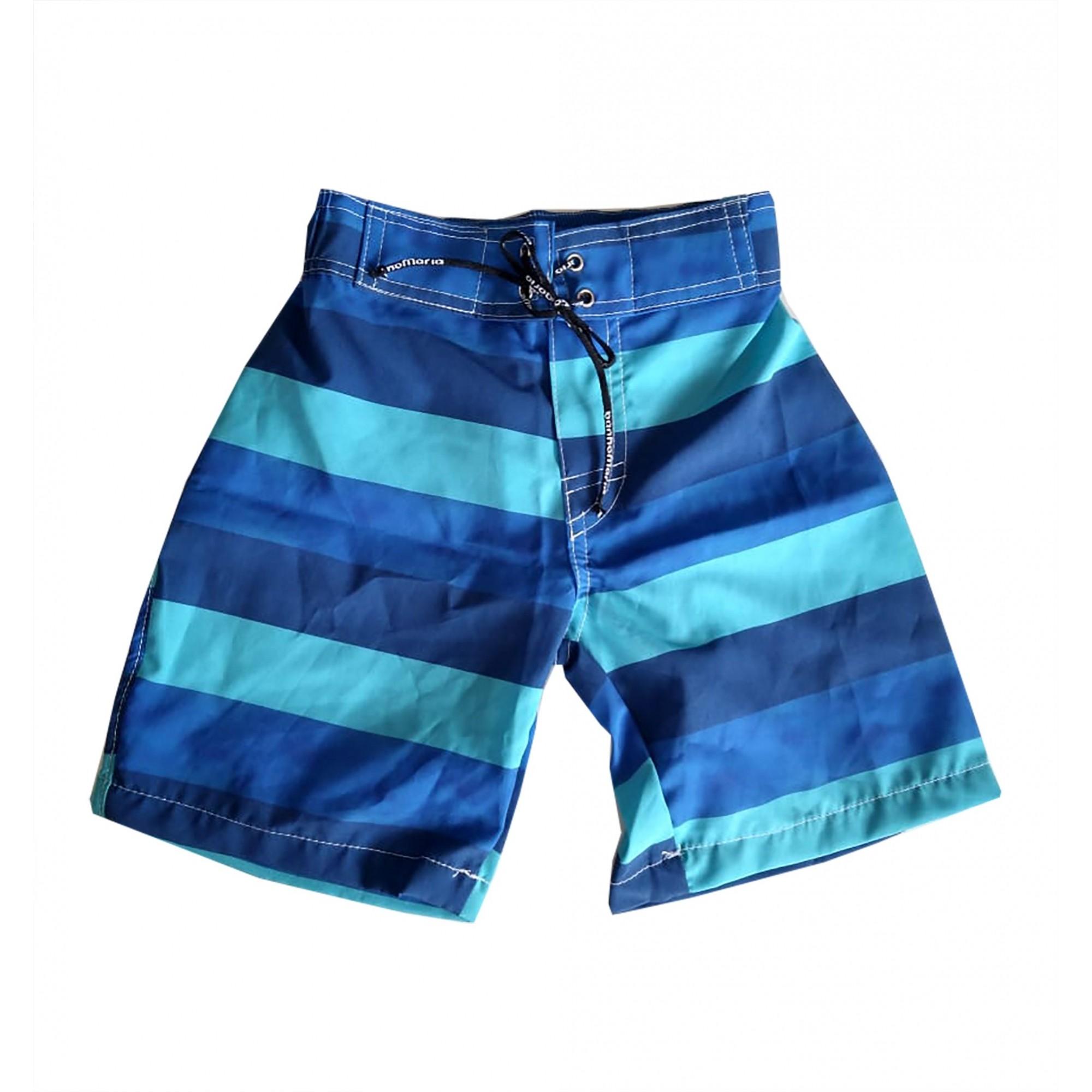 Bermuda Surf Infantil Listra Verde e Azul