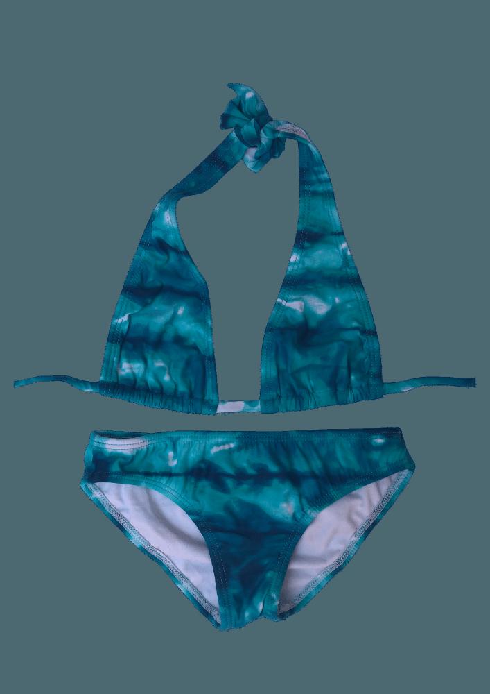 Biquín Halter Aquarela azul