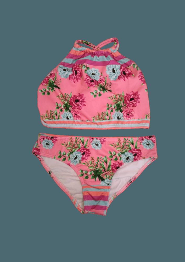 Biquin Lycra Proteção UPF50+ Top Capri Flower Stripes - Verão 2020