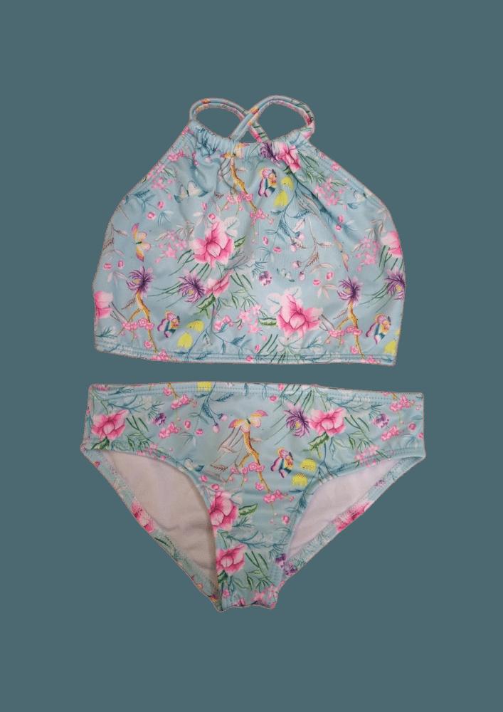 Biquin Lycra Proteção UPF50+ Top Capri Mix Garden - Verão 2020