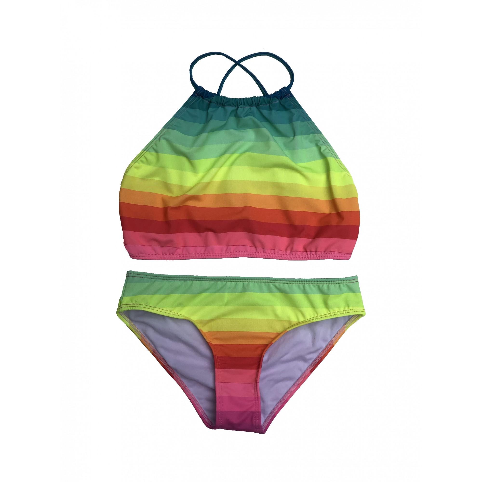 Biquíni Lycra Proteção UPF50+ Capri Top Venice Rainbow - Verão 2021