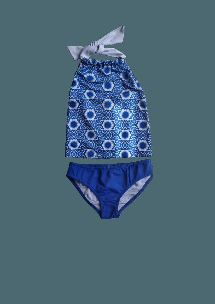 Biquíni Lycra Proteção UPF50+  Tankini Mandala Azul