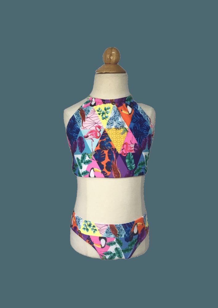 Biquíni Lycra Proteção UPF50+  Top Capri Brazilian Pop Art