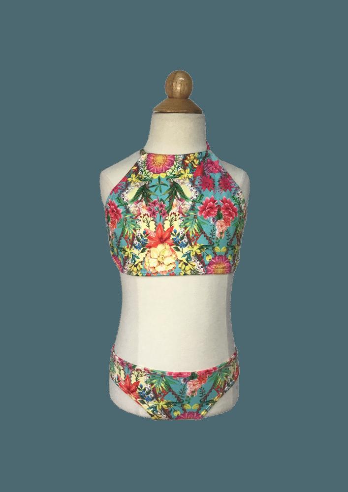 Biquíni Lycra Proteção UPF50+  Top Capri Flower Mix