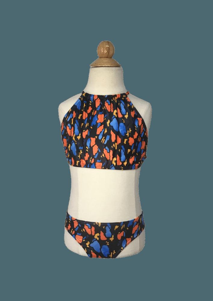 Biquíni Lycra Proteção UPF50+  Top Capri Rorschach Colorful