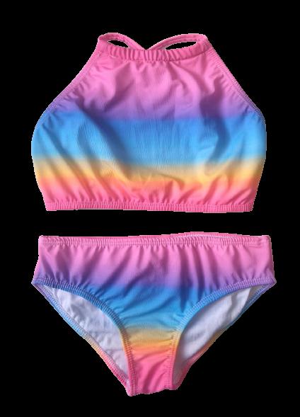 Biquíni Lycra Proteção UPF50+  Top Capri Sunset Rainbow