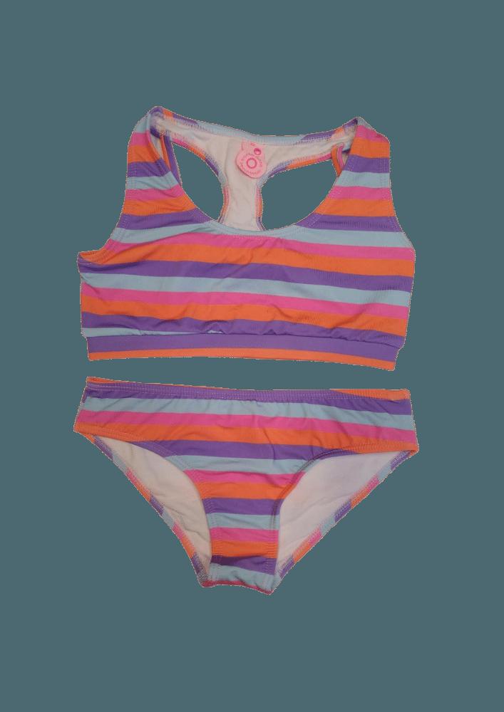Biquíni Lycra Proteção UPF50+  Top Stripe Feather