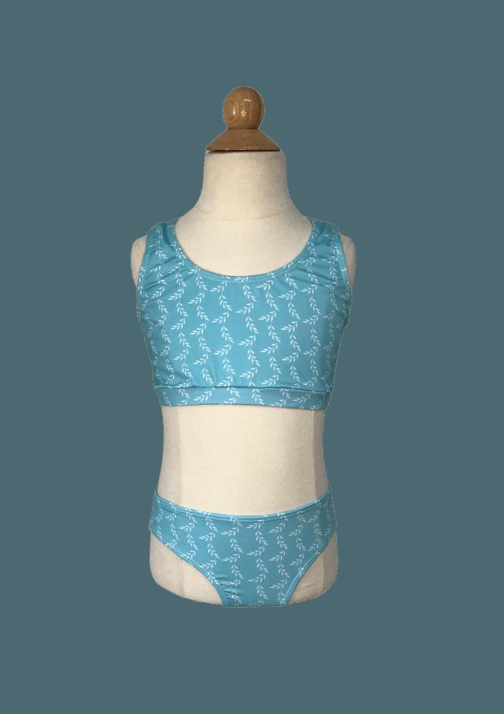 Biquíni Lycra Proteção UPF50+  Top Stripe Ramos Azul