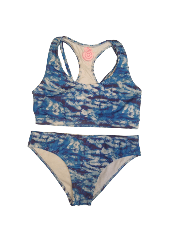 Biquíni Lycra Proteção UPF50+  Top Stripe Tie Dye Sea