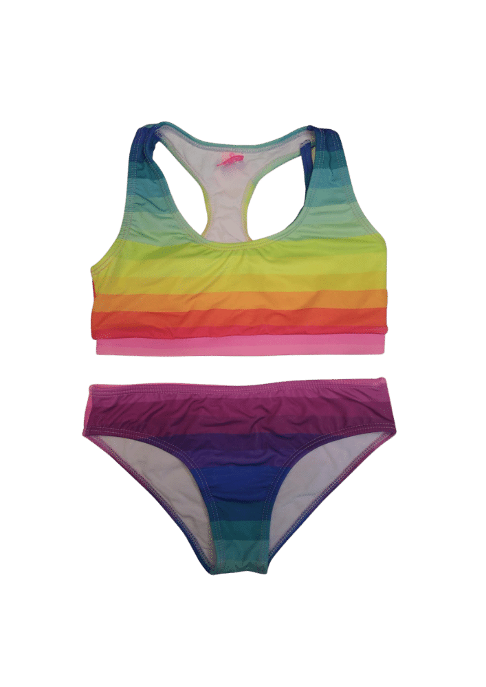 Biquíni Lycra Proteção UPF50+  Top Stripe Venice Rainbow
