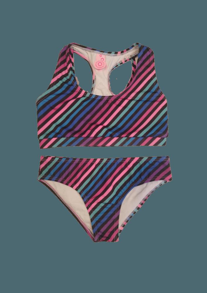 Biquíni Lycra Proteção UPF50+  Top Stripe Verão 90'