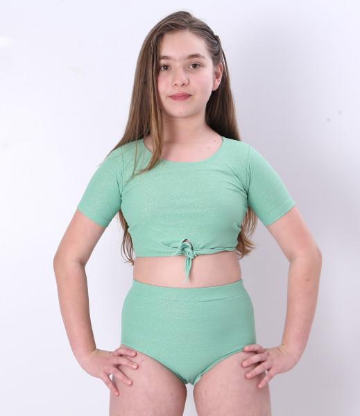 Biquíni Teen Lycra Proteção UPF50+  Luna Verde Shine