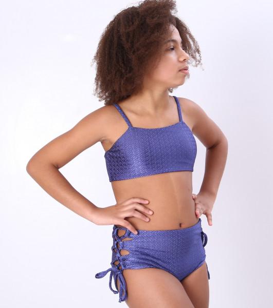 Biquíni Teen Lycra Proteção UPF50+  Olívia Blue Work