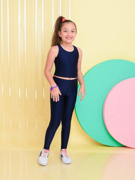 Calça Legging Infantil Azul Marinho
