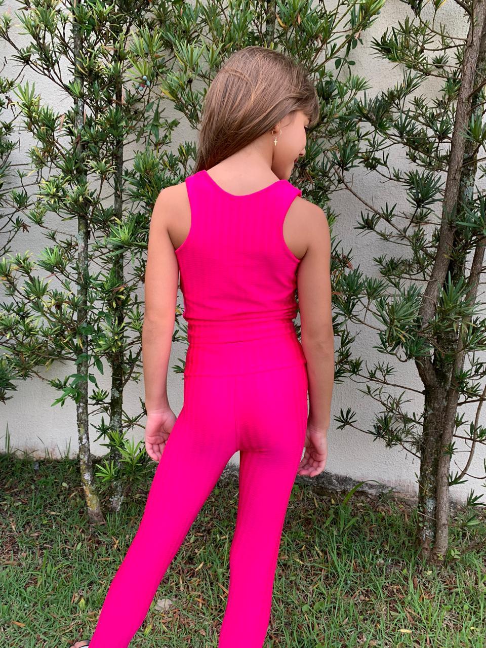 Calça Legging Infantil Pink