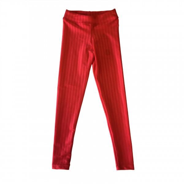 Calça Legging Infantil Vermelha