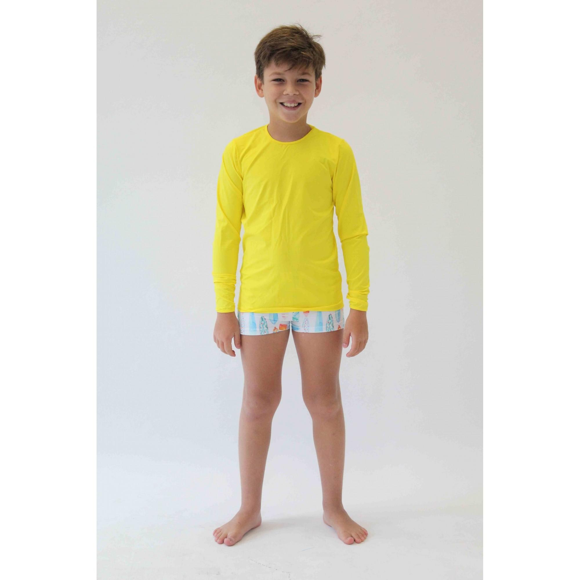 Camiseta de Proteção UPF50+ - Amarela