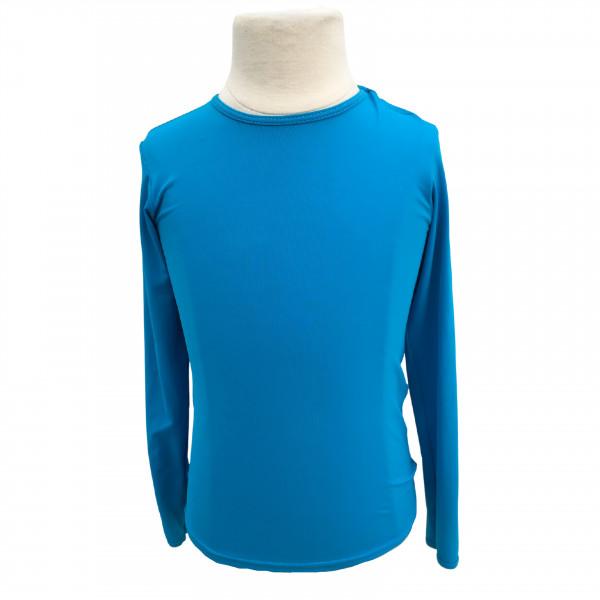 Camiseta de Proteção UPF50+ - Azul Cian