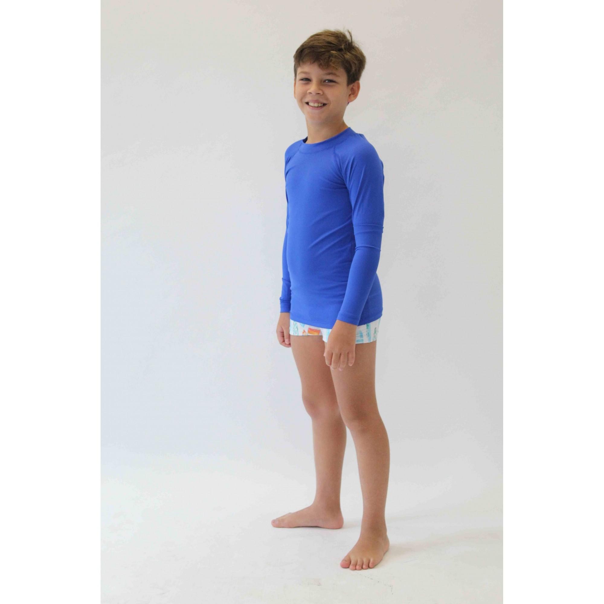 Camiseta de Proteção UPF50+ - Azul Royal