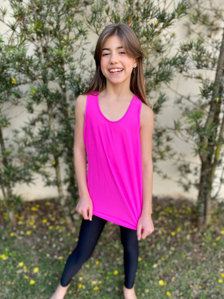 Camiseta Regata  Dry Fit Rosa Pink