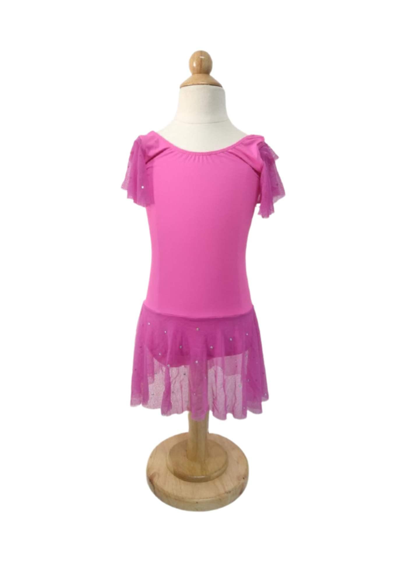 Collant Bree Saia Pingos Prata - Pink