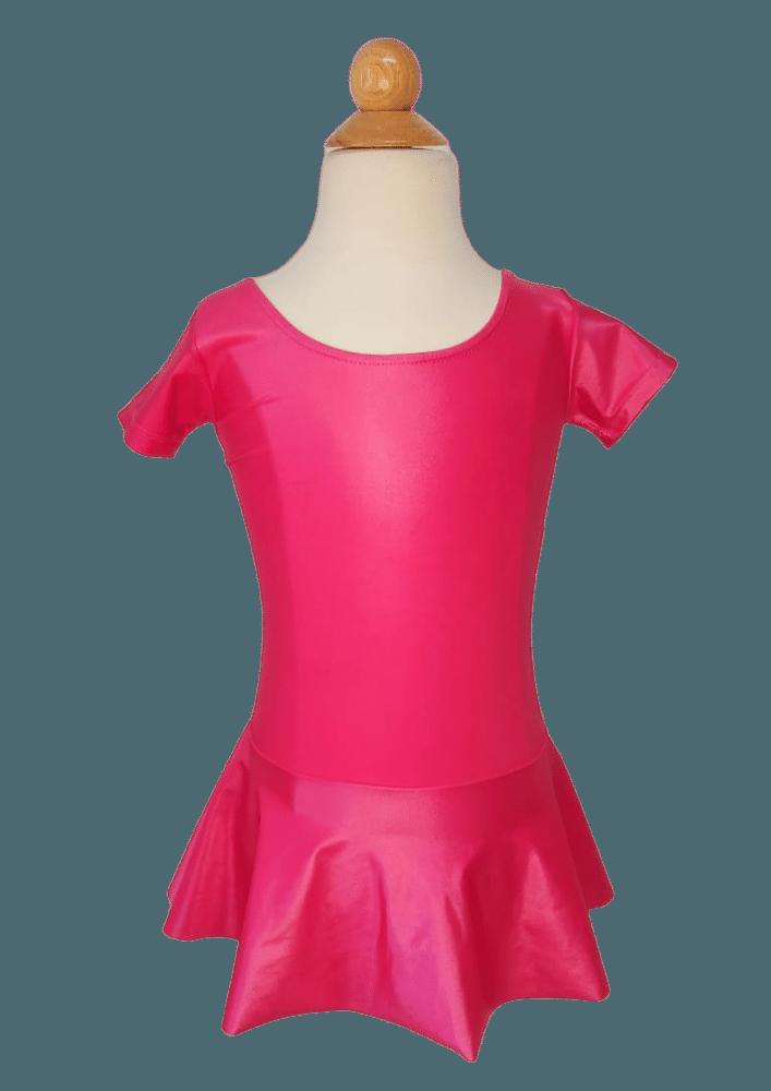 Collant  Saia com Laço - Pink Cereja