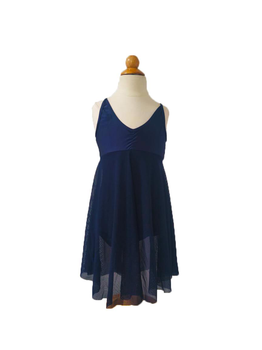 Collant  Vestido Tule - Azul Meia Noite