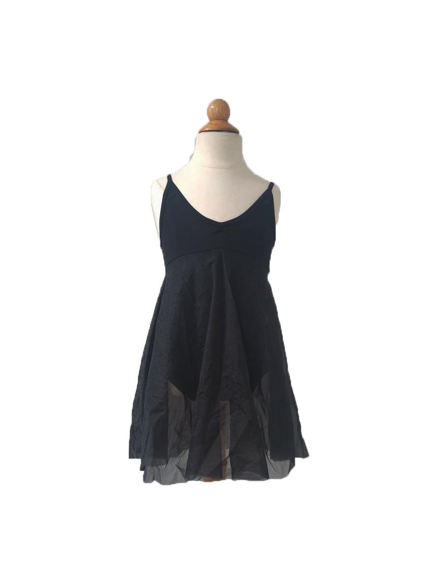 Collant  Vestido Tule - Preto