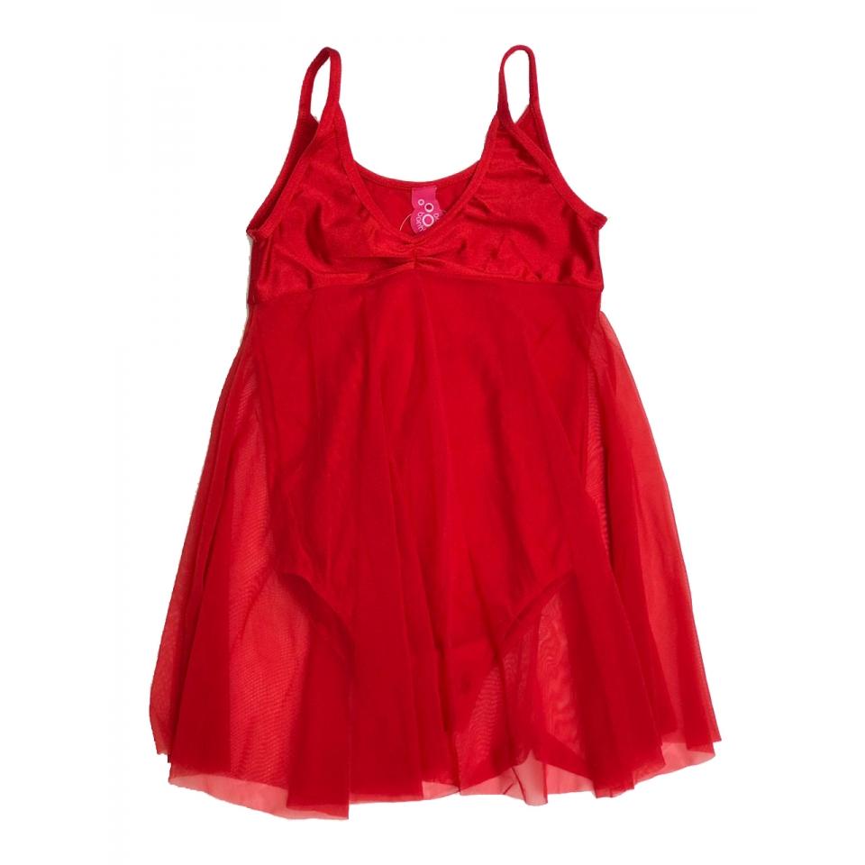 Collant  Vestido Tule - Vermelho