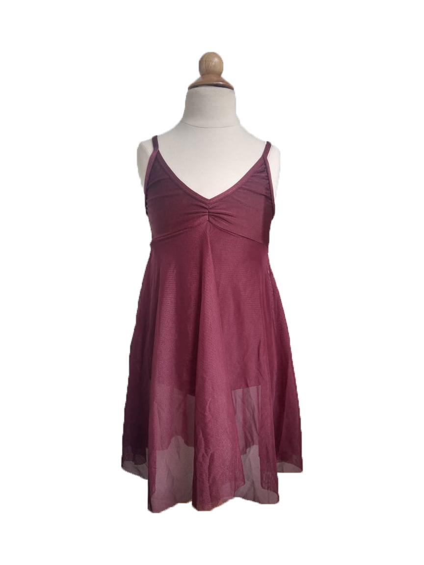 Collant  Vestido Tule - Vinho