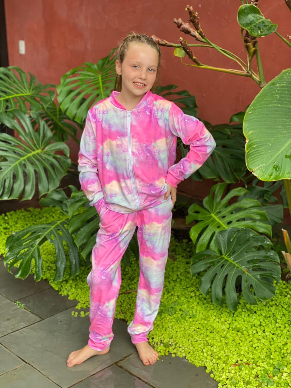 Conjunto Bomber - Tie Dye Pink