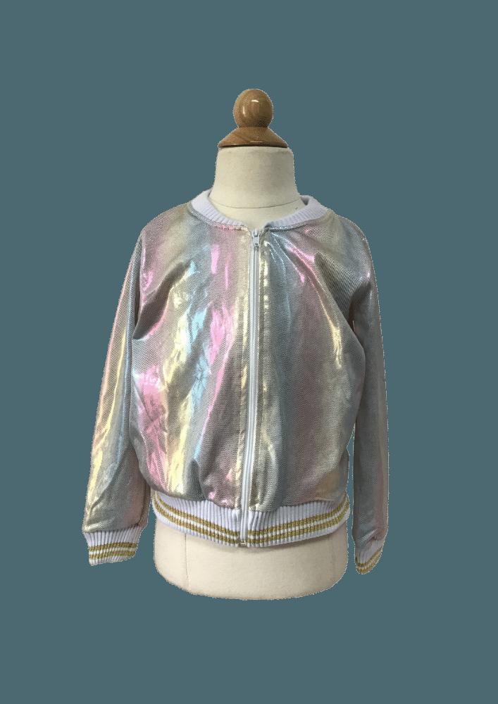 Jaqueta Metalic Rainbow White