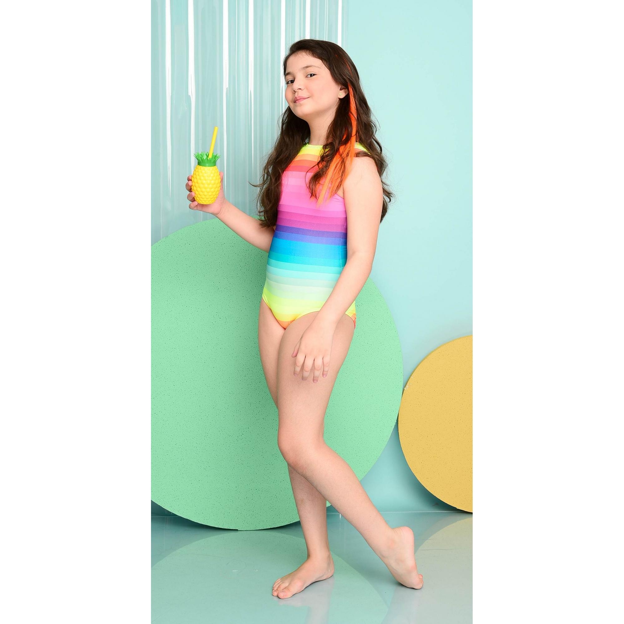 Maiô Lycra Proteção UPF50+ Body Venice Rainbow - Verão 2021