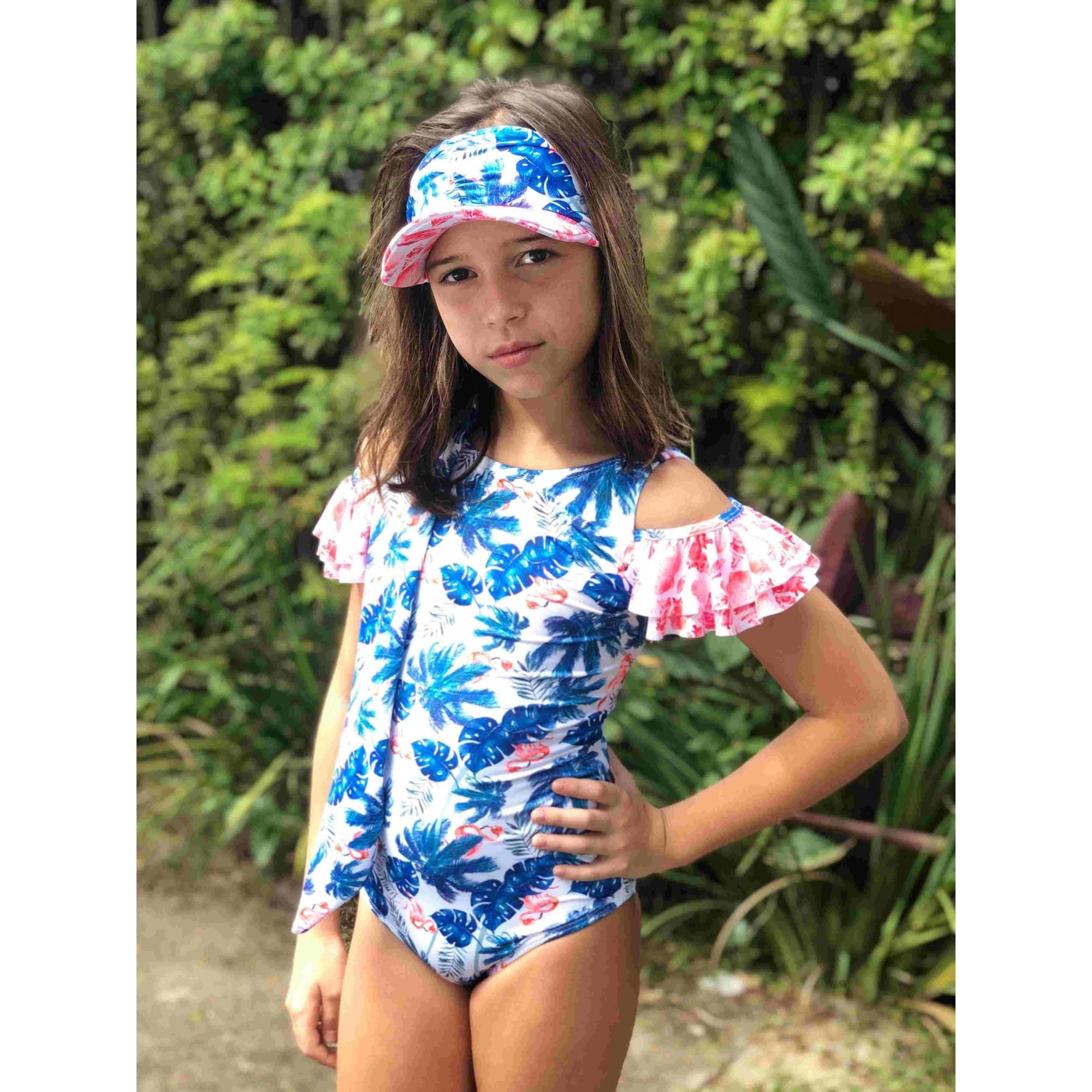 Maiô Lycra Proteção UPF50+ Cuba Flamingo Beach - Verão 2020